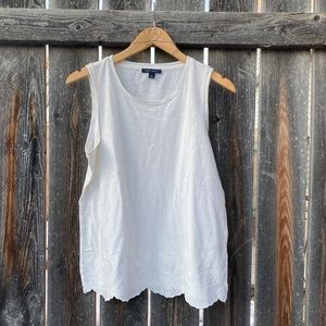 TOMMY HILFIGER | White Tanktop with floral pattern